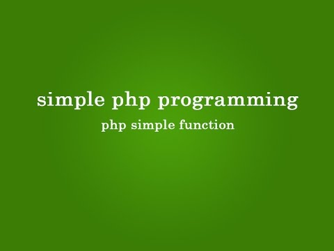 php basic function tutorial