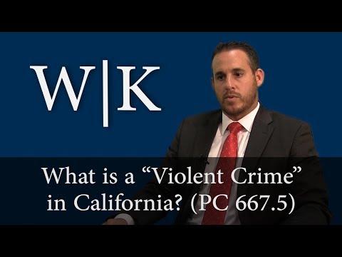 What is a Violent Crime? (PC 667.5)