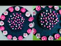 Diy paper flower wall hanging /old jeans wall hanging/ recycle Wall decoration by KovaiCraft #31
