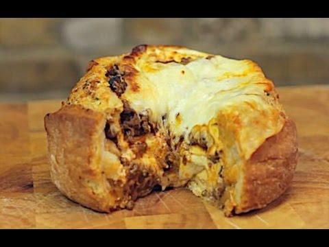 Lasagne Garlic Bread Bowl