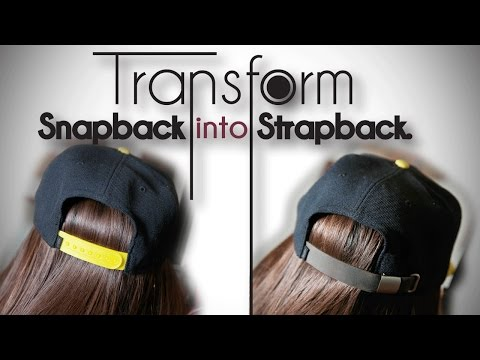 DIY Transformation   Turn Snapback into Strapback