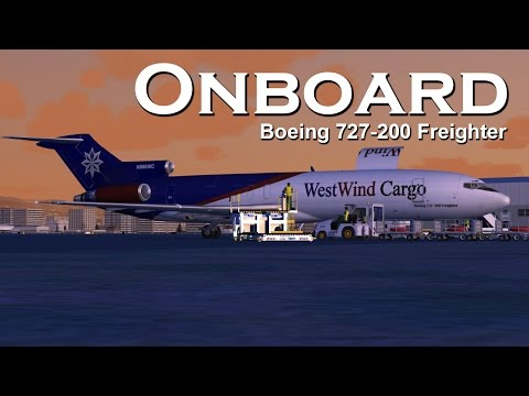 Onboard Boeing 727-200F Los Angeles to Reno (Full Flight)