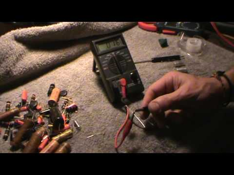 How to test guitar tone capacitors with a multi-meter by Jonesyblues