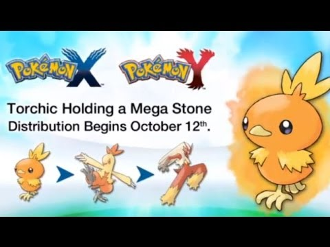 Pokemon X And Y - 3DS XL - Get Torchic With A Special Item!