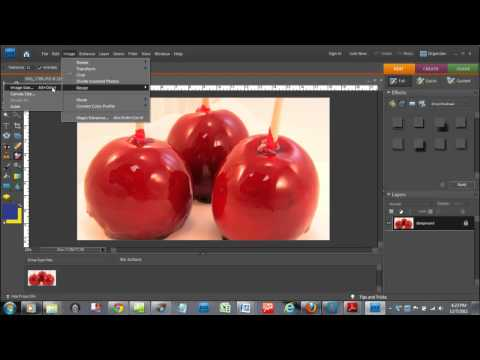 How to Re-Size an Image Photoshop Elements