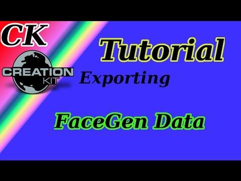 Skyrim: Creation Kit Tutorial - Export FaceGen Data