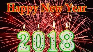 Happy New Year 2018 Candle Light Time Lapse