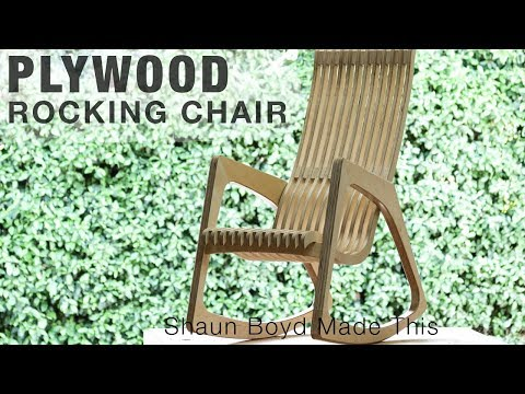 Building a MODERN Plywood Rocking Chair from One Sheet - #rocklerplywoodchallenge