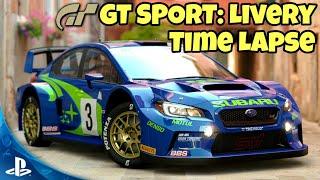 GT SPORT: Colin McRae WRC Livery Time Lapse - Subaru WRX STI