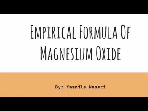 Empirical Formula of Magnesium Oxide Experiment