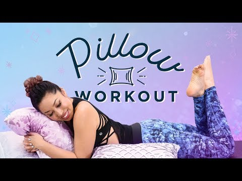Pillow Workout for Lazy Days | At Home Ab & Butt Exercises