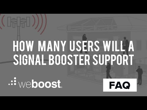 How Many Users Can A Signal Booster Support | weBoost