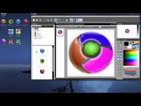 How to change icon colours or png to ico windows.or mac