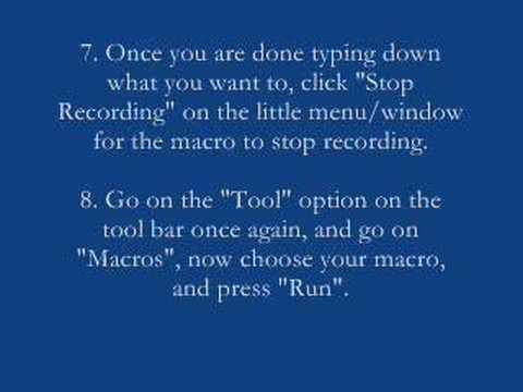 How To Make A Microsoft Word (2003) Macro Tutorial