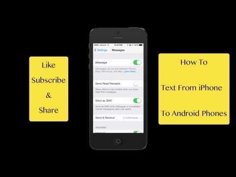 How To Fix iPhones Not Texting Android Phones