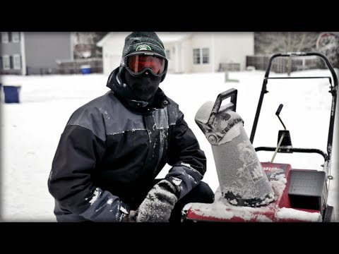 The Lawn Is Under There Somewhere - Cinematic Toro Snowblower Footage