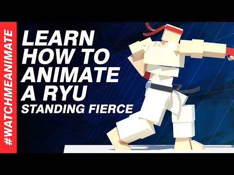 How to Animate a Ryu Standing Fierce From SFV (Combo Series 2/5) - EP05