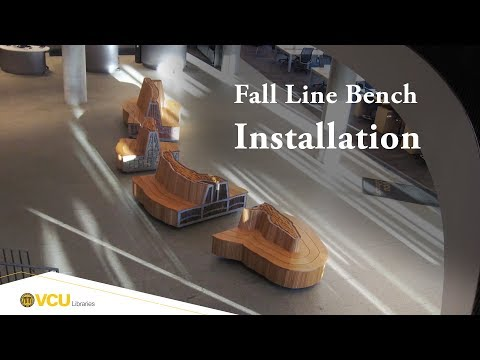VCU Libraries Fall Line Bench Installation