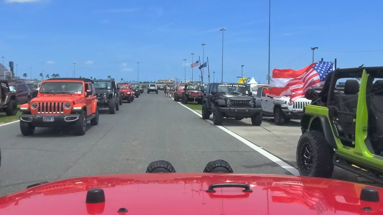 JEEP INSANITY  ... Driving into the infield 2021 Jeep Beach Daytona