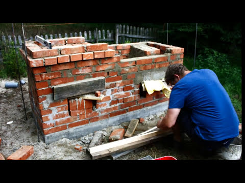 Smokehouse, pizza oven, bread oven, garden grill - DIY project - stop motion/timelapse