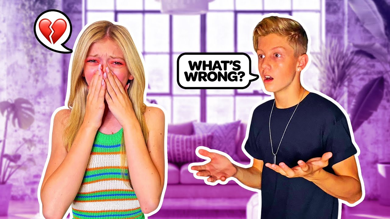 RANDOMLY CRYING In Front Of My CRUSH To See How He REACTs **EMOTIONAL**😭💔| Emily Dobson