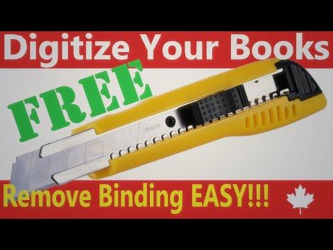 1 Book Preparation: Remove the Book's Binding