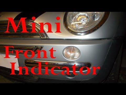 Mini front indicator bulb change