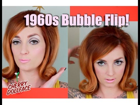 Vintage Hair by Era: 1960s Bubble Flip! CHERRY DOLLFACE