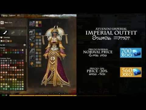 Guild Wars 2: Outfits - Imperial Outfit - Atuendo Imperial (Human Female)