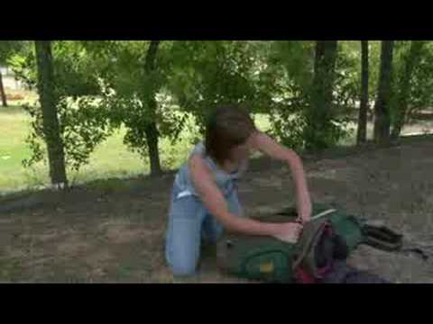 Backpacking Equipment Tips : Packing Items in Outside Backpack Pockets