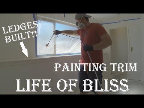 Building Half Wall Ledge | Trim Painted | Basement Build 17