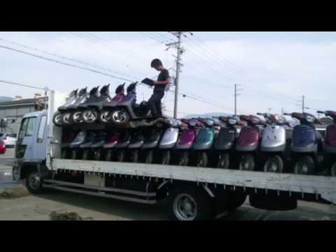 скутер japan used mopeds scooters enduro moto parts engine container from osaka japan