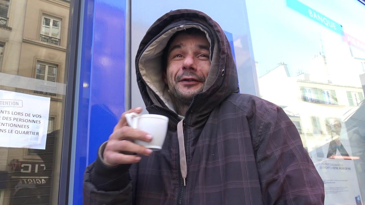 Christophe, la rue, ses chiens et le grand froid