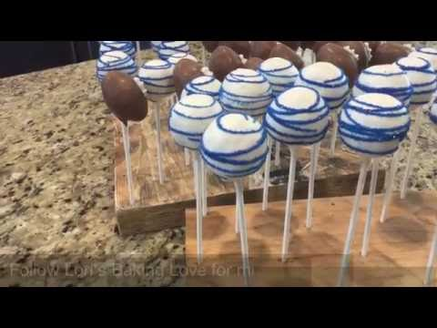 Football and Round Cake Pops