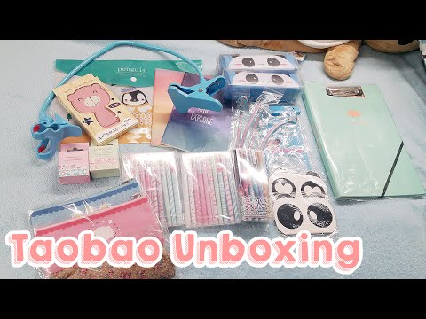 Taobao Unboxing Part 1: Stationery, clothes, and cute stuff!