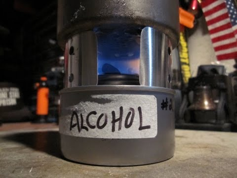 Refilling Chafing Fuel Canister with Alcohol - Boil Test#1