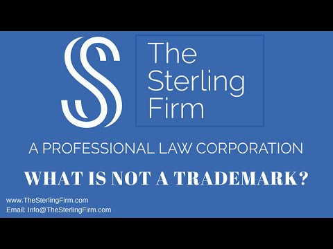 WHAT IS NOT A TRADEMARK?