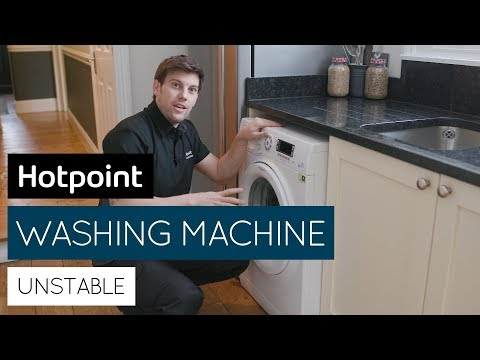 How to stop an unstable/wobbling washing machine   by Hotpoint