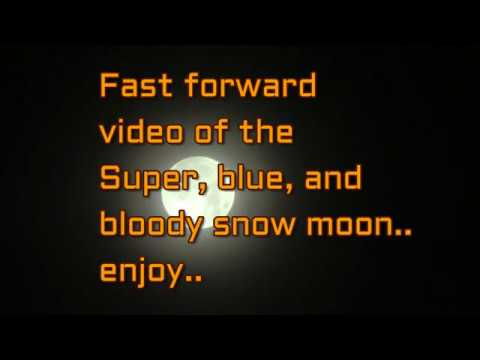 Total lunar eclipse fast forward 700% like timelapse.