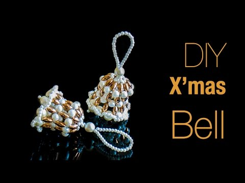 How to make Christmas bells | DIY Holiday ornaments | Christmas decorations ideas | Beads art