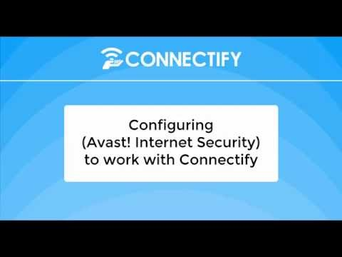 Firewall Configuration (Avast! Internet Security) for Connectify Hotspot