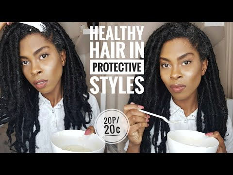 HOW I KEEP MY HAIR HEALTHY IN FAUX LOCS