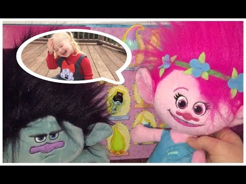 TROLLS GAME Match the Troll to the Shadow - TOY SURPRISES PRIZE! | L.O.L Doll,Disney Princess,Barbie