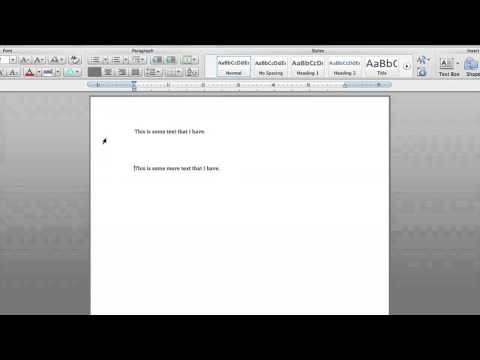 How to Eliminate Large Spaces in Microsoft Word : Microsoft Word Tutorials