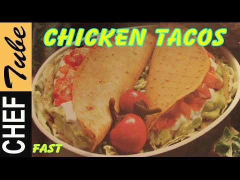 FAST!: Chicken Tacos Dinner: Best | Chicken Taco Filling | Easy |  Chicken Burritos-Pollo Tacos