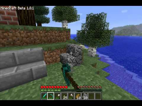 How to create Mossy and Broken stone brick block in survival world