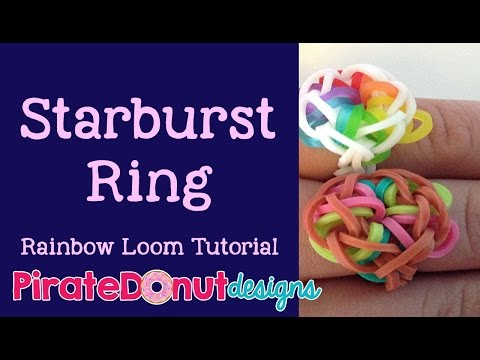 Starburst Ring Rainbow Loom Tutorial