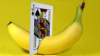 ONLY 1% OF PEOPLE KNOW THE SECRETS OF THESE MAGIC TRICKS - BANANA and CARD MAGIC TRICK