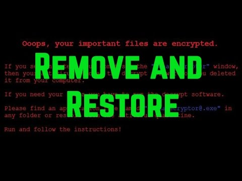 How to Remove Wana Derypt0r .WNCRY Virus + Restore Files