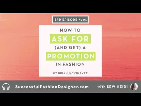 SFD 003: How to Ask for and Get a Promotion in Fashion with Brian McIntyre